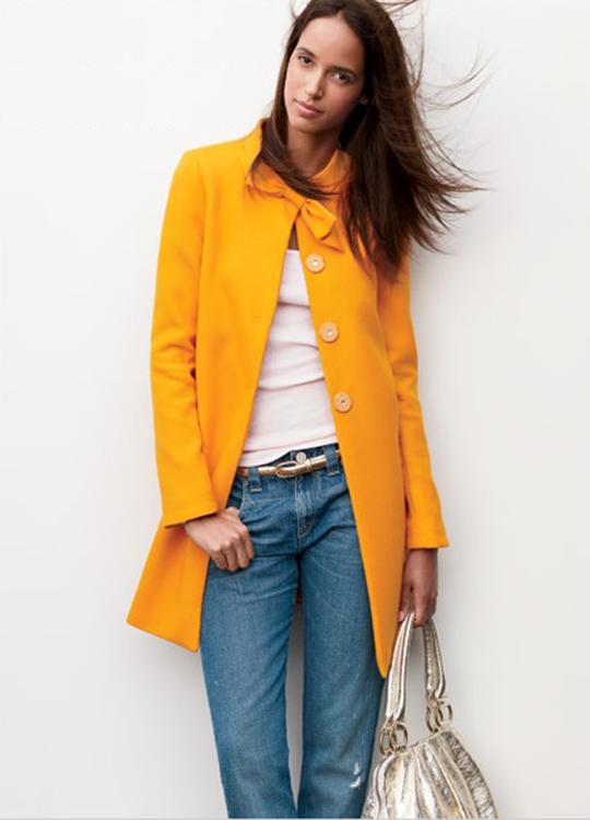 JCrew Yellow coat 540